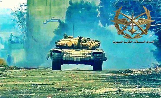 Terrorists first line of defense is broken in Jobar under SAA fire