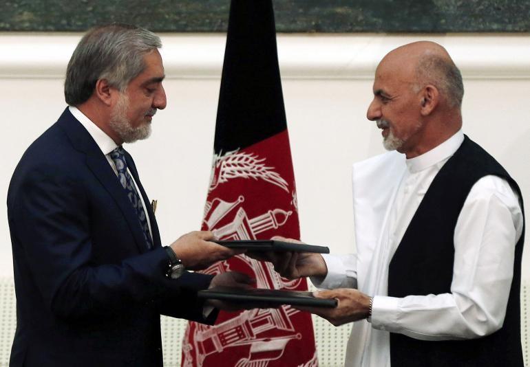 Photo of Ashraf Ghani sworn in as new Afghan president