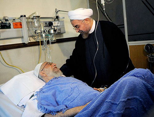 Photo of EXC.VIDEO: Leader of Islamic Ummah and Oppressed S. Khamanei with President Rouhani after his succesful surgery operation