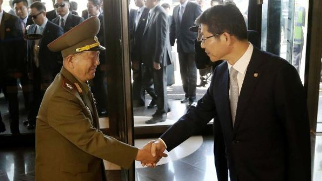 Photo of North Korean officials make rare visit to South