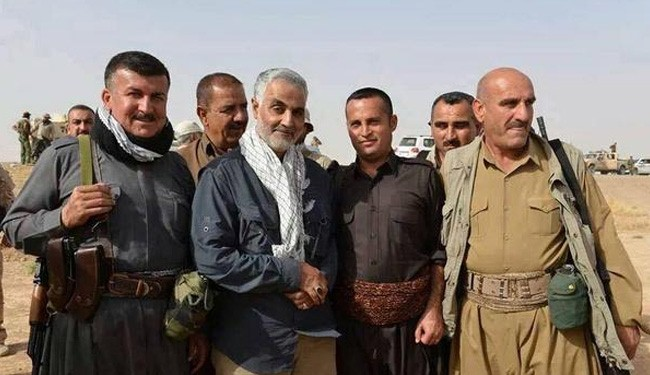 "Photo of ""Brigadier General Qasem Soleimani is in Frontline in North Iraq"""