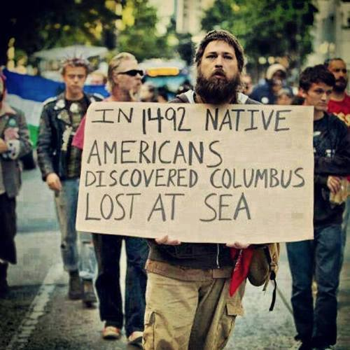 Photo of In 1492 Native Americans discovered Columbus lost at sea