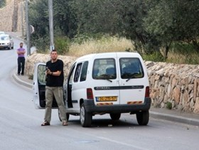 Photo of Palestinian farmer survives a hit and run attack