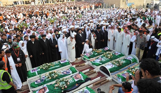 Thousands Attend Burial of Shiites Martyrs in Saudi
