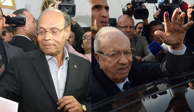 Marzouki, Essebsi Set for Runoff inTunisia Presidential Vote