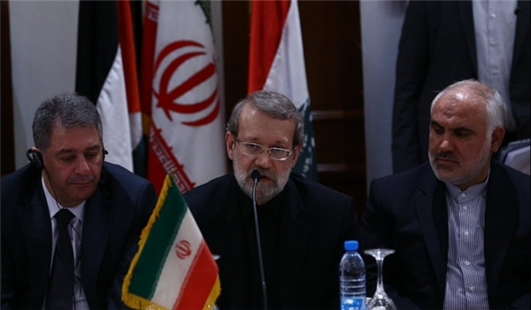 Photo of Iranian Speaker: Palestinians in Dire Need of Unity