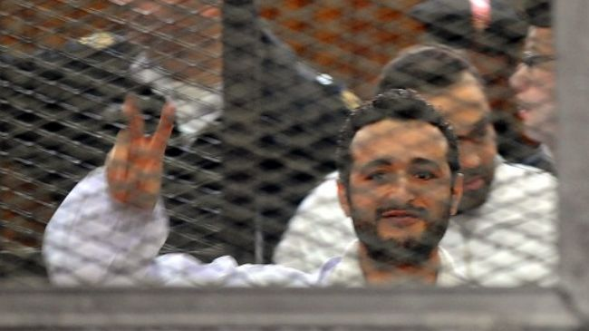 Photo of Egypt activist jailed for 'contempt' of court