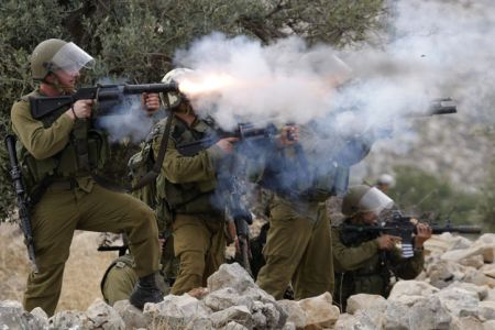 Photo of Terrorist israeli forces target Palestine school with tear gas
