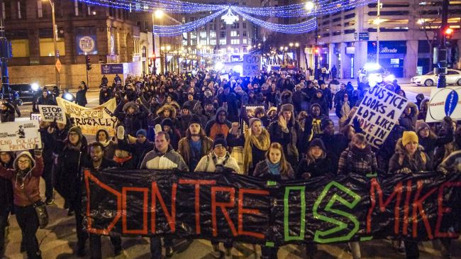 Photo of Protest against US police brutality held in Milwaukee