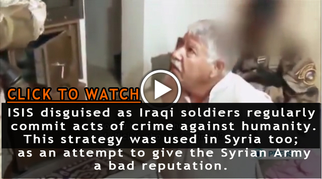 Photo of VIDEO- ISIS disguised as Iraqi soldiers regularly commit acts of crimes to defame Iraqi Army