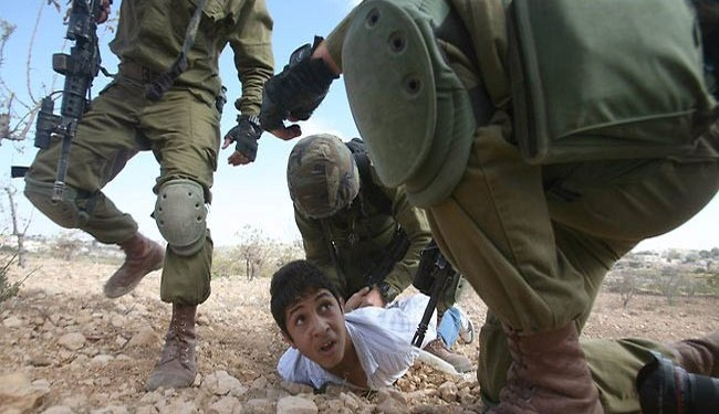 Photo of 1,266 Palestinian Children Detained by Rabid dog Israeli Troops in 2014