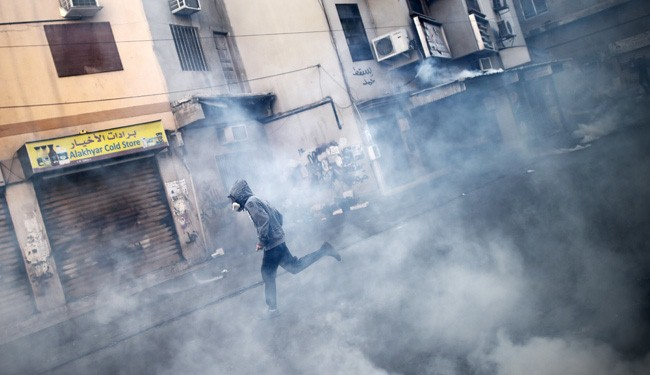 Al-Khalifa Forces Attacks peaceful rally in Manama
