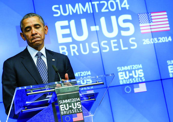 US President Obama visits EU Council