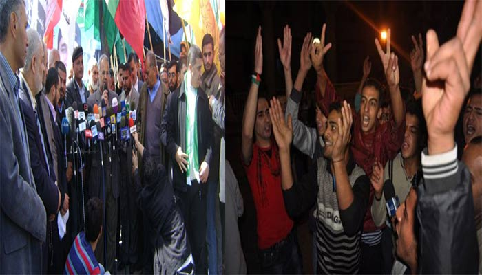 Photo of Gazans flock to streets to mark the victorious Hezbollah operation which sent many zionists to hell