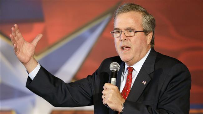 Jeb Bush calls for more military spending to encourage peace