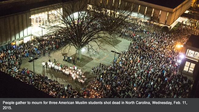 Photo of Families of slain US Muslim students call for hate crime investigation