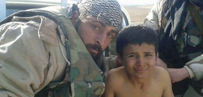 Photo of 11 Year Old ISIS Fighter Captured by Syrian Army Special Forces