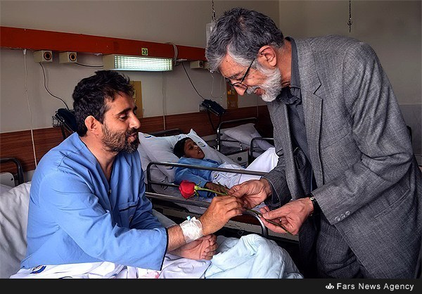 Photo of Photos- Iranian Parliamentarian Visits Wounded Yemenis in Hospital