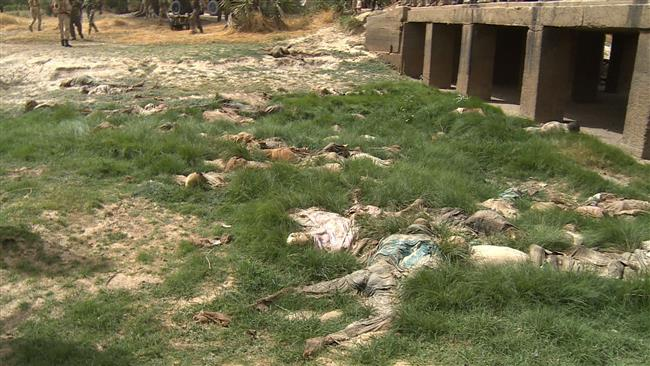 Photo of Boko Haram leaves behind mass of throat-slit corpses