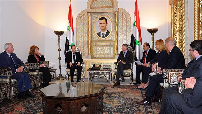 Photo of Belgian official praises Assad as 'ally,' lauds Syria's war on terror