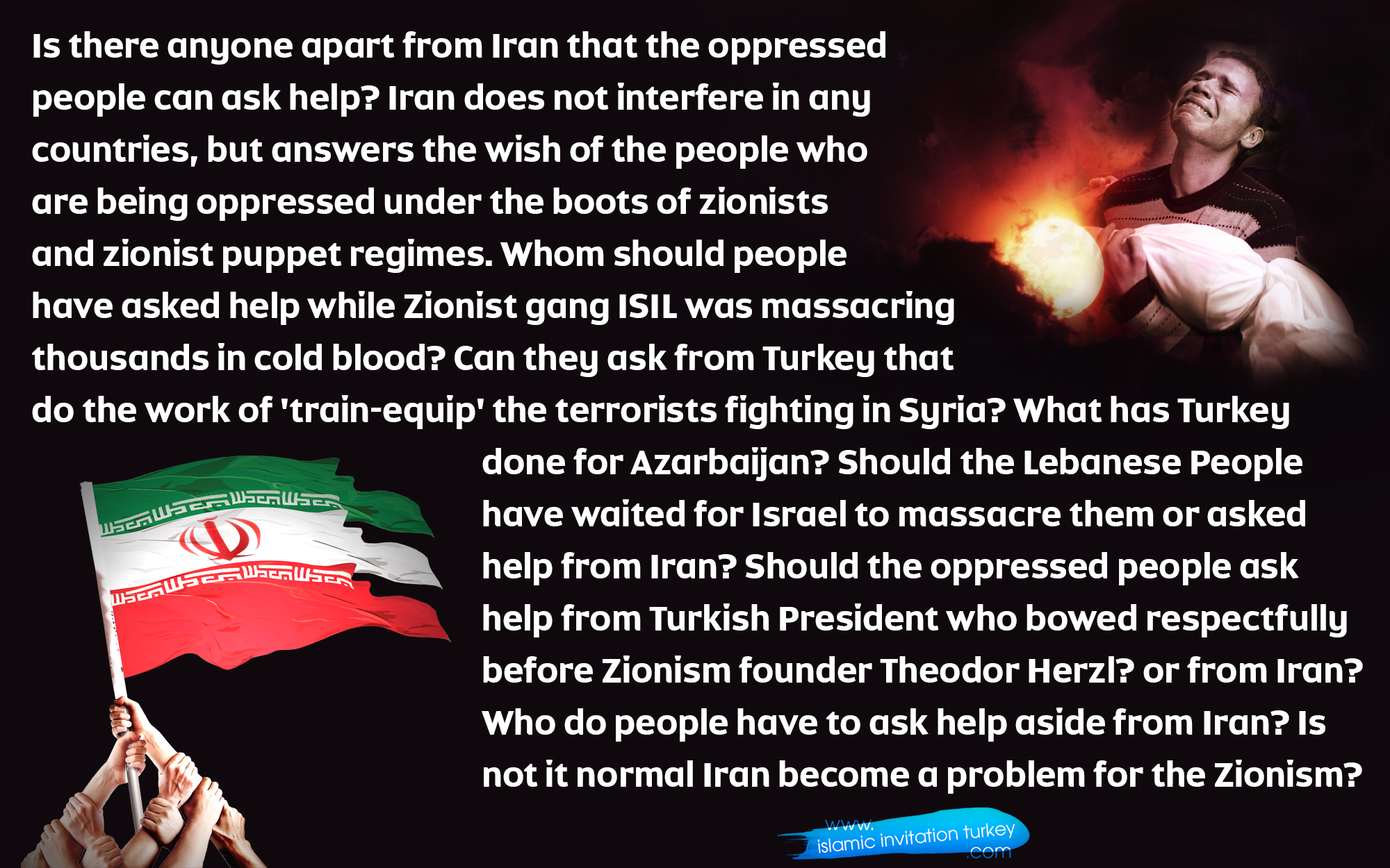 Photo of Should people have asked Turkey's or Iran's help while they were being massacred in cold blood?
