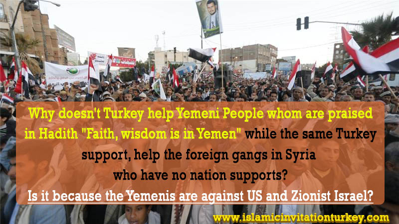 Photo of Why doesn't Turkey help Yemeni People? Is it because the Yemenis are against US and Zionist Israel?