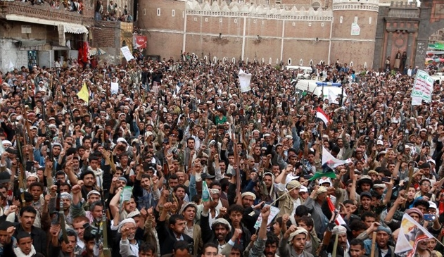 Photo of Hundreds of Yemenis in San'aa, Taez, Beida, Aden, Hadeda protested Zionist Occupation Saudi attacks on civilians and Army points