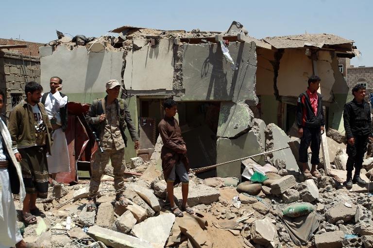 afp-saudi-led-planes-hit-yemen-rebels-as-gunfire-kills-five