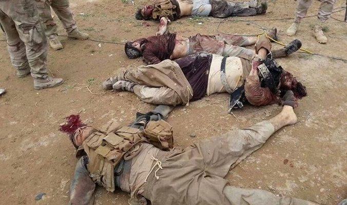 Photo of Iraqi fighter jets terminated a convoy of 30 terrorists with their 8 vehicles in eastern part of Samarra