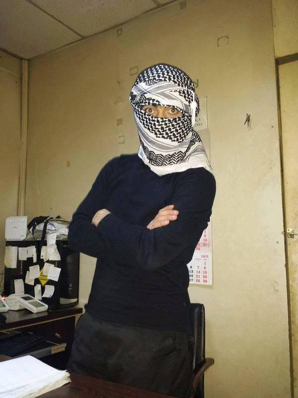 Photo of Syrian Army killed Turkish terrorist, Muhammed Emin Kayık, with 7 Chechen near Watan Hospital in Jisr Shougur.