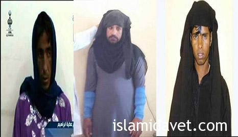 Photo of Iraqi Army captured 3 terrorists in women cloth in Salahudden countryside.