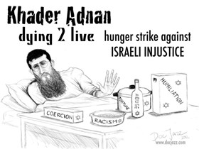 Photo of Palestinian Hero Khader Adnan in critical condition as he nears 40th day of hunger strike