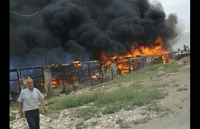 Photo of Fire kills five at Syrian refugee camp in southern Lebanon