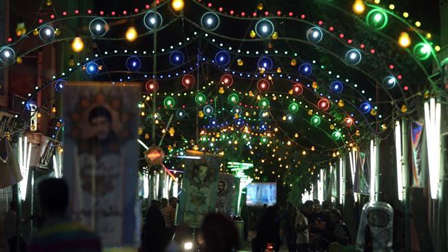 Photo of Iranians celebrating Imam Mahdi birth anniversary