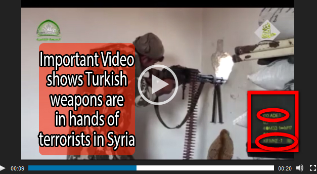 Photo of VIDEO- Terrorists in Syria are using Turkish weapons made in MKE (Makina Kimya Endüstrisi) located in Ankara.