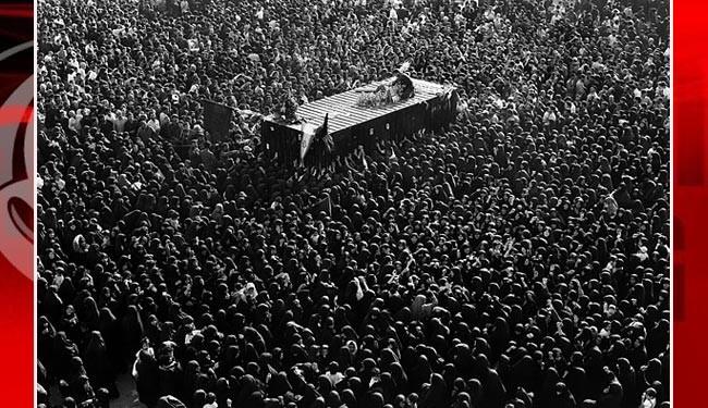 Funeral ceremonu of Imam Khomeini on June1989.