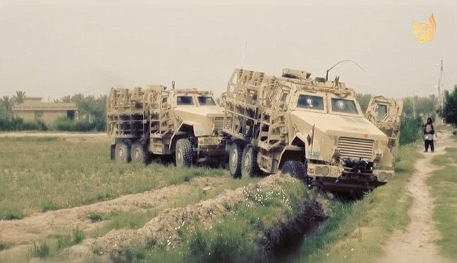 ISIS Terrorists Drive American Humvees!