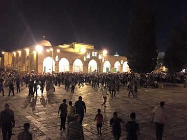 Photo of Photos- Tarawih prayers on the first day of Ramadan in Aqsa Mosque