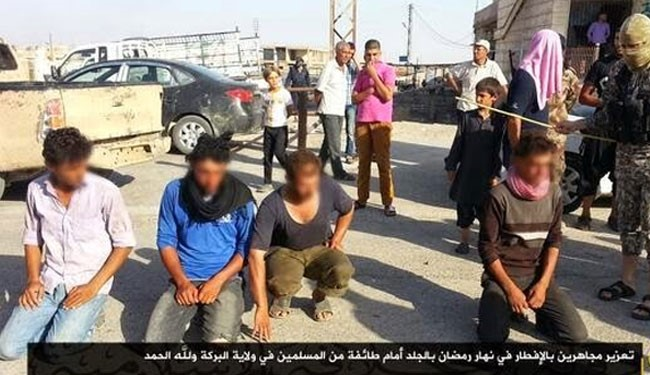 "Photo of Terrorist ISIS, Crucified, Whipped and Detained 94 People for ""Eating in Ramadan"""