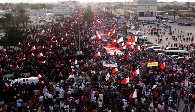 Photo of Bahraini People Massive Protest against Regime's Crackdown on Sitra