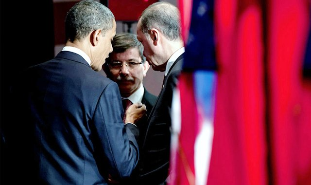"Photo of What? Davutoğlu, ""We have sent 2000 trailer trucks to Kobane,"" Erdogan, ""There are no civilians left in Kobane,"""
