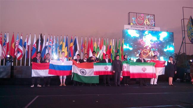 Photo of Iranian students champions of international astronomy Olympiad