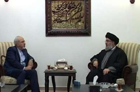 Photo of Zarif, Sayyed Nasrallah meet in Lebanon