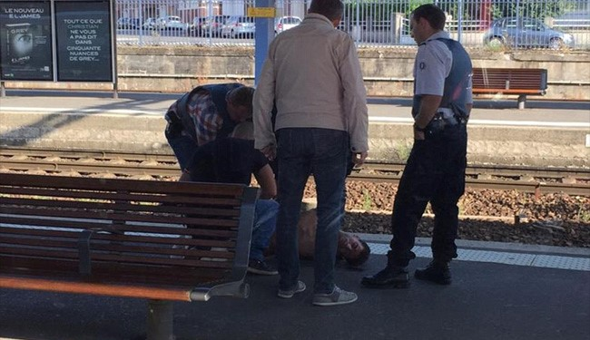 Pics: Terrorist Attacking French Train Taken down by US Airman