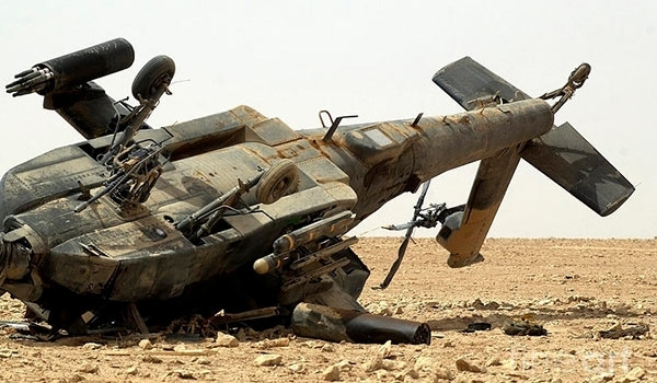 Photo of Yemeni Forces Down Another Terrorist Saudi Apache Helicopter