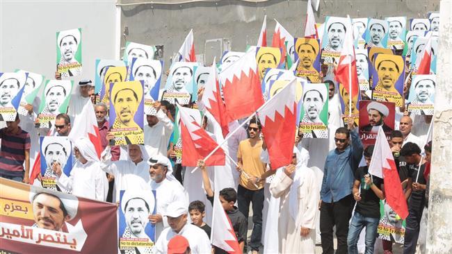 Photo of Bahraini demonstrators call for release of Sheikh Salman