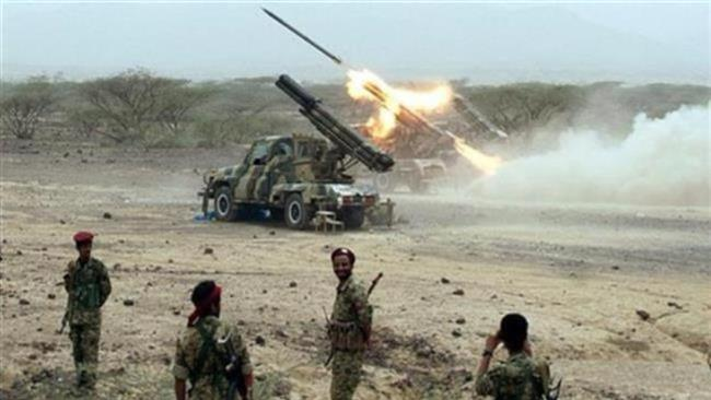 Photo of Yemeni forces fire rockets at Saudi military sites