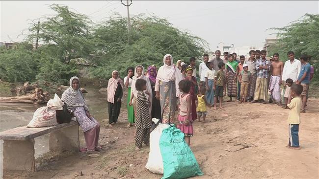 Photo of Rohingya refugees devastated following heavy rains in India's Haryana