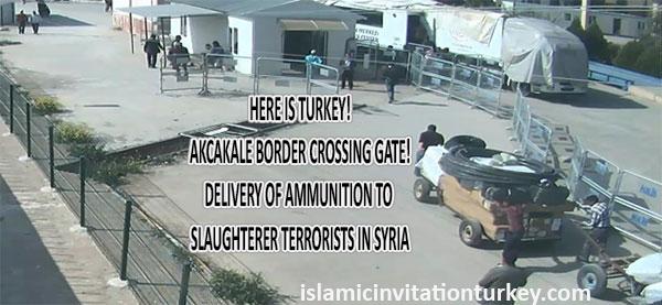 Photo of EXCLUSIVE PHOTOS: Turkey overtly handing terrorist groups ammunition from Akcakale Border Gate!