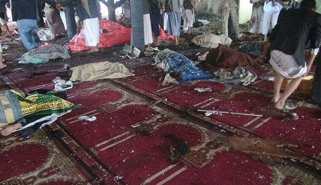 Photo of US-israel, Qatar, Jordan, KSA, Turkey backed ISIS Twin Bombings in Sanaa Mosque's victims Rise to 124